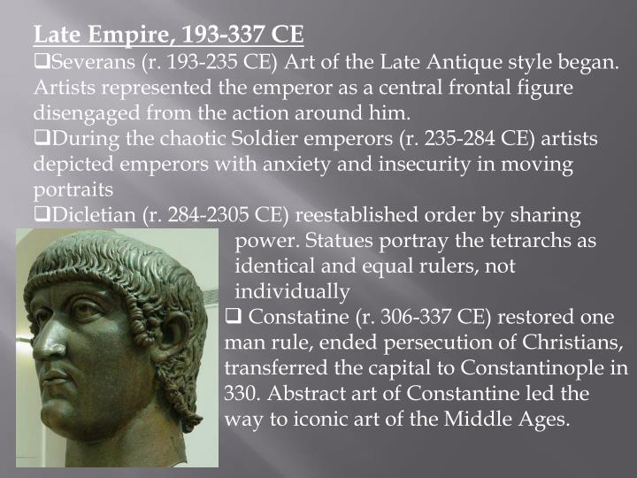 Late Empire, 193-337 CE