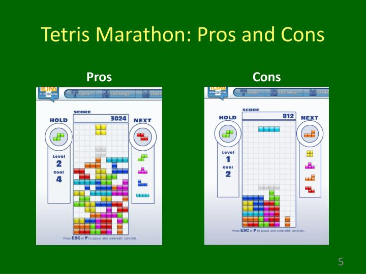 Tetris Marathon: Pros and Cons