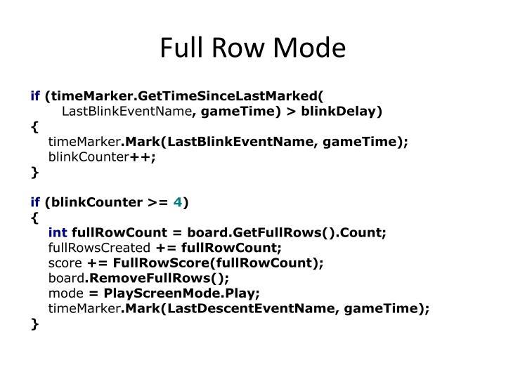 Full Row Mode
