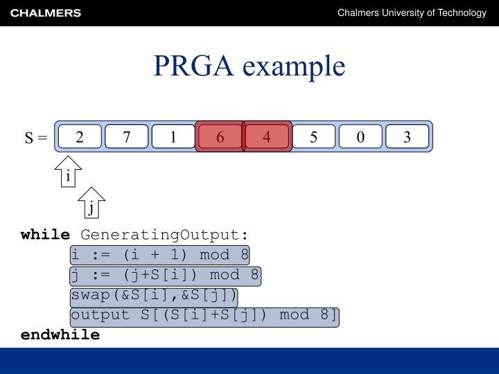 PRGA example