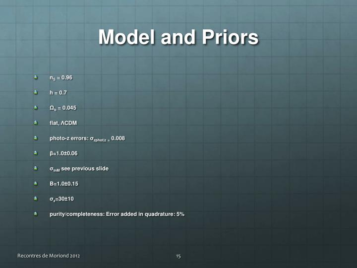 Model and Priors
