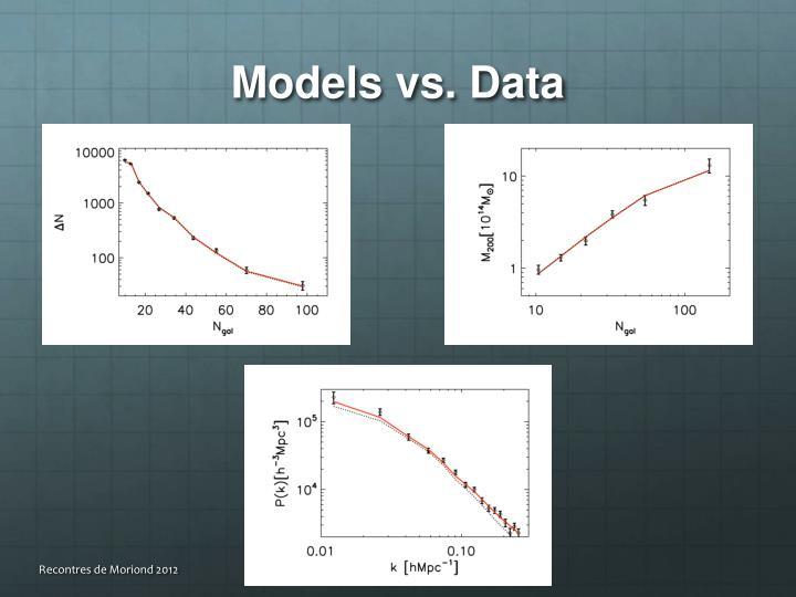 Models vs. Data