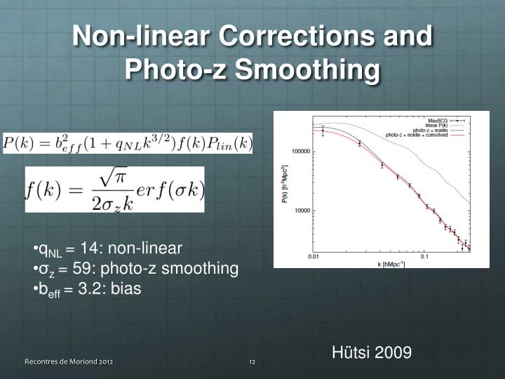 Non-linear Corrections and Photo-