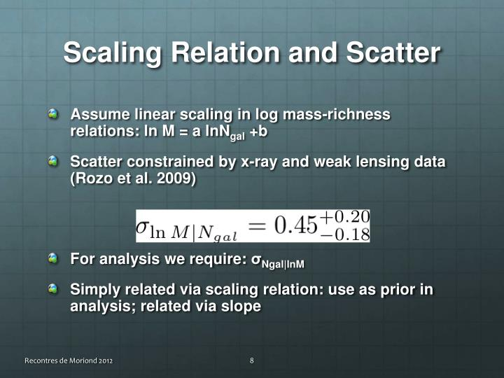 Scaling Relation and Scatter