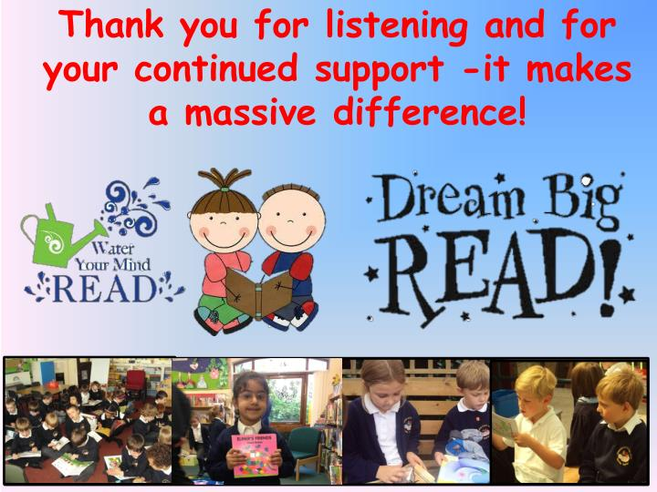 Thank you for listening and for your continued support -it makes a massive difference!