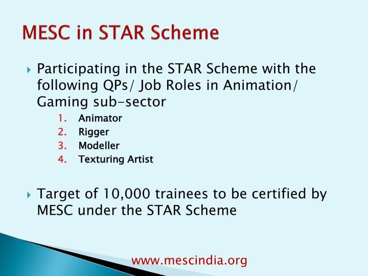MESC in STAR Scheme
