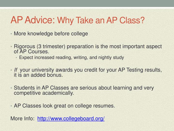 AP Advice: