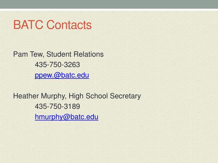 BATC Contacts