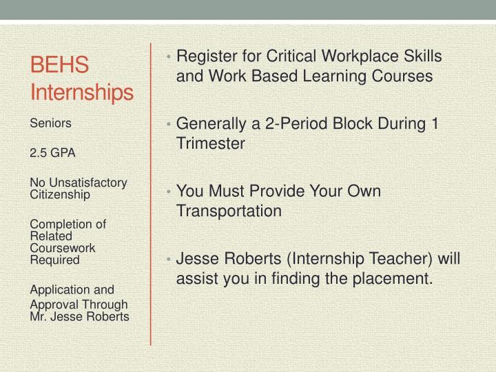 BEHS Internships