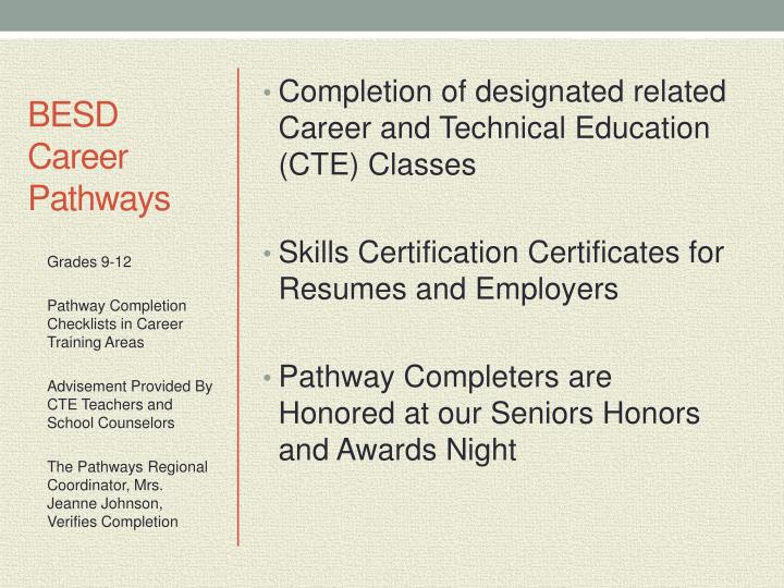 BESD Career Pathways