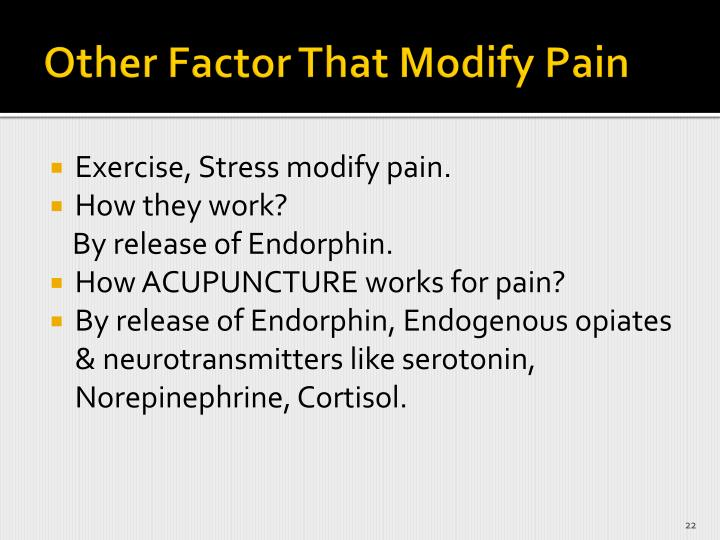 Other Factor That Modify Pain