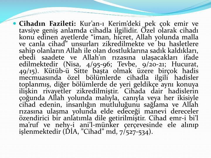 Cihadın Fazileti: