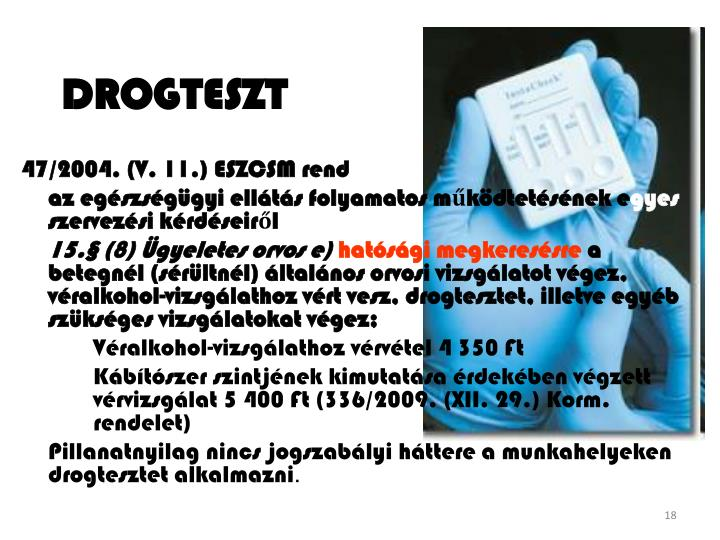 DROGTESZT