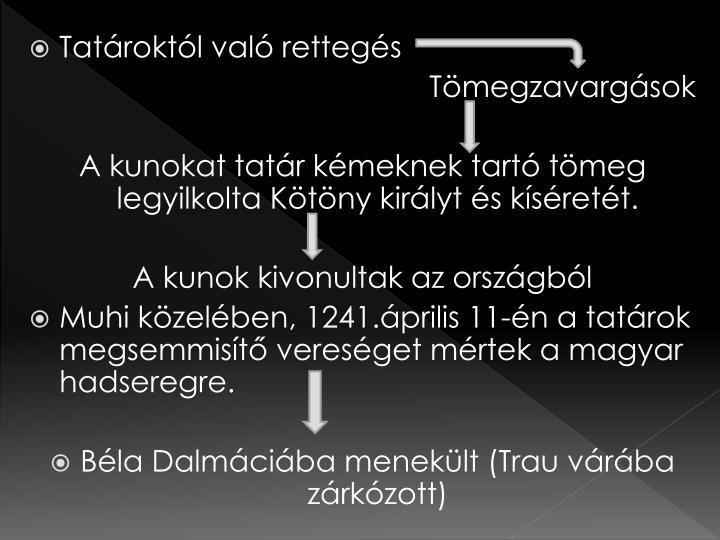 Tatároktól való rettegés