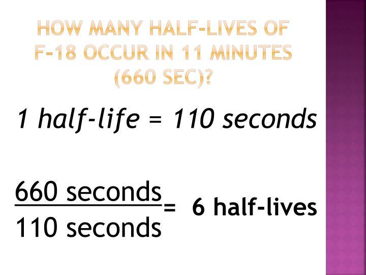 How many half-lives