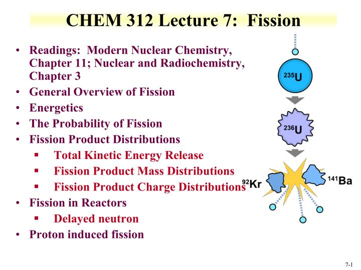 Chem 312 lecture 7 fission