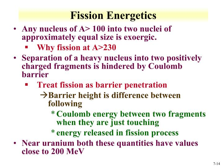Fission Energetics