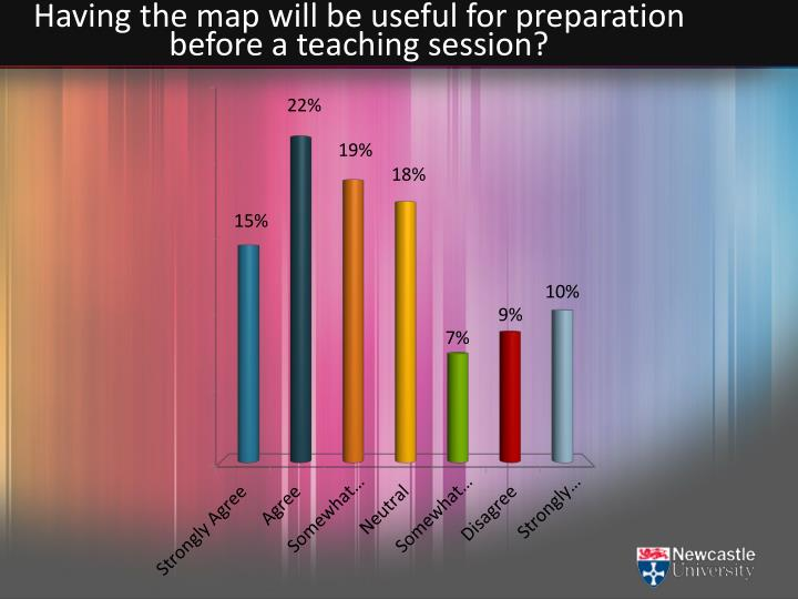 Having the map will be useful for preparation before a teaching session?