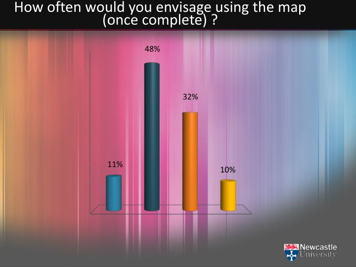 How often would you envisage using the map (once complete) ?