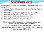 dokumen haji