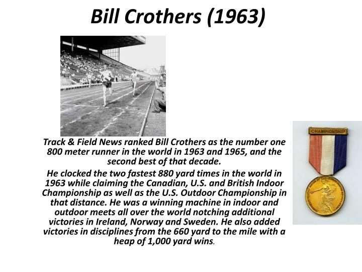 Bill crothers 1963