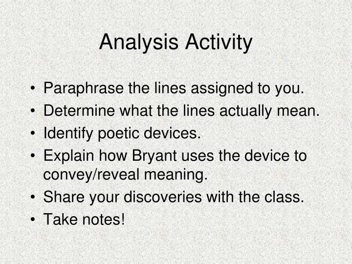 Analysis Activity