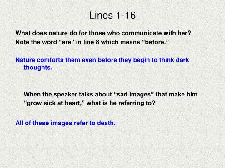 Lines 1-16