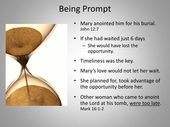 Being Prompt