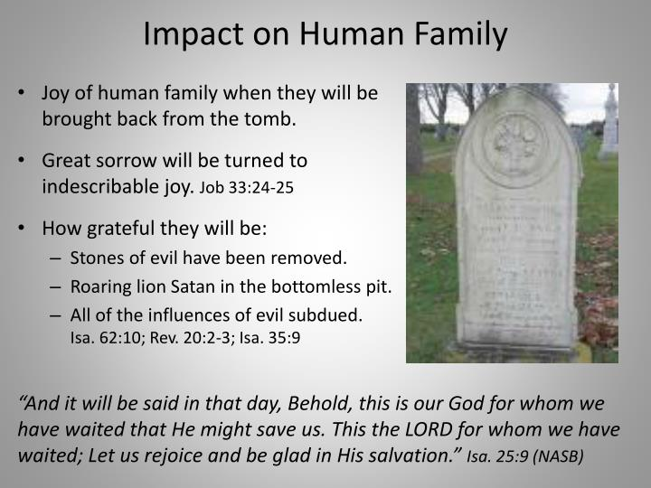 Impact on Human Family