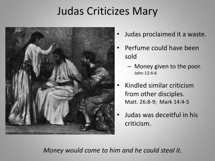 Judas Criticizes Mary