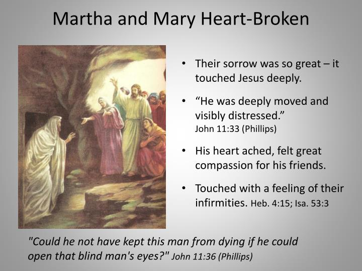 Martha and Mary Heart-Broken