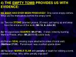 4 the empty tomb provides us with evidence
