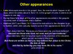 other appearances