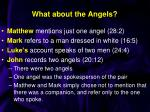 what about the angels