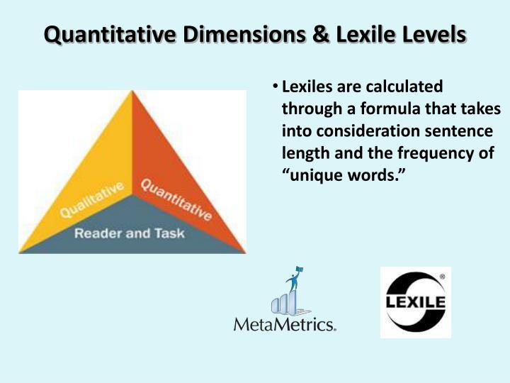 Quantitative Dimensions &