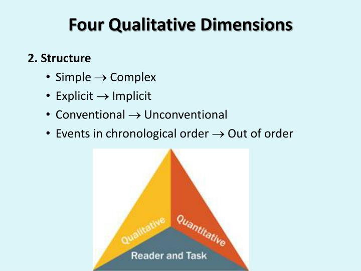 Four Qualitative Dimensions