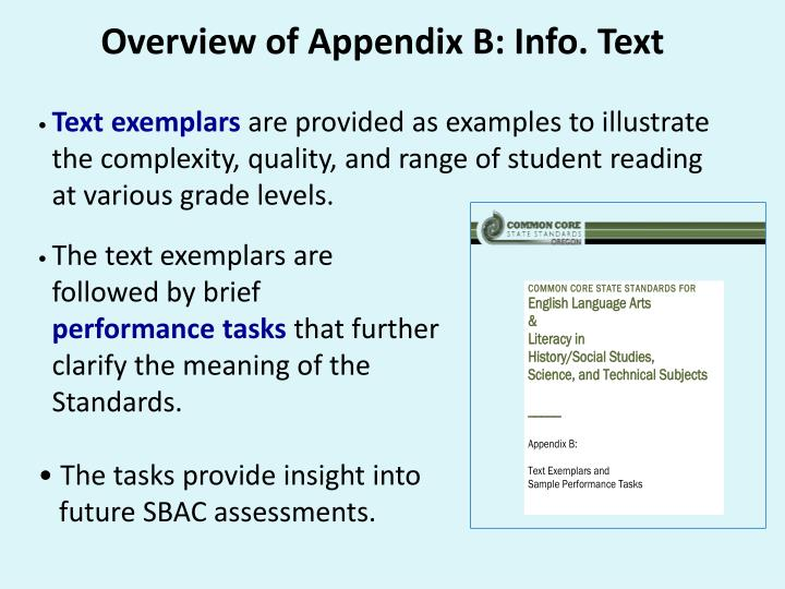 Overview of Appendix