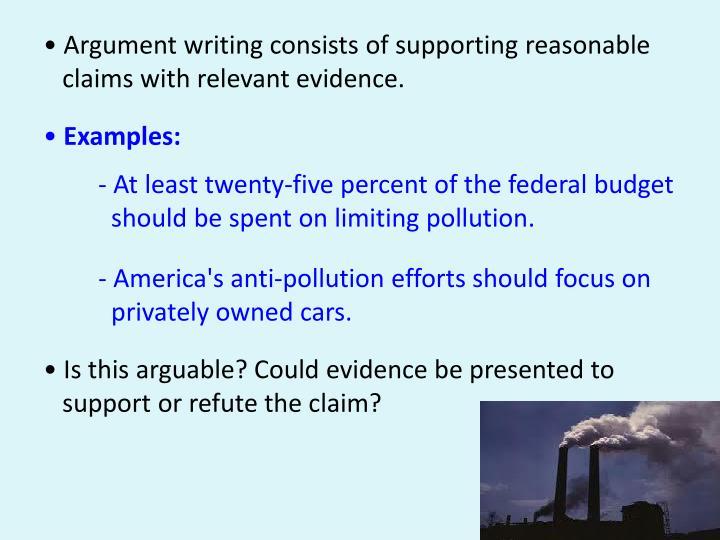 • Argument