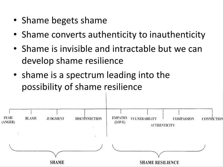 Shame begets shame