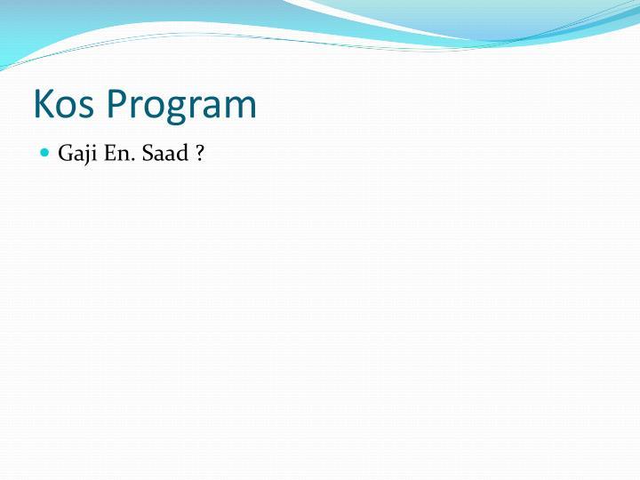 Kos Program