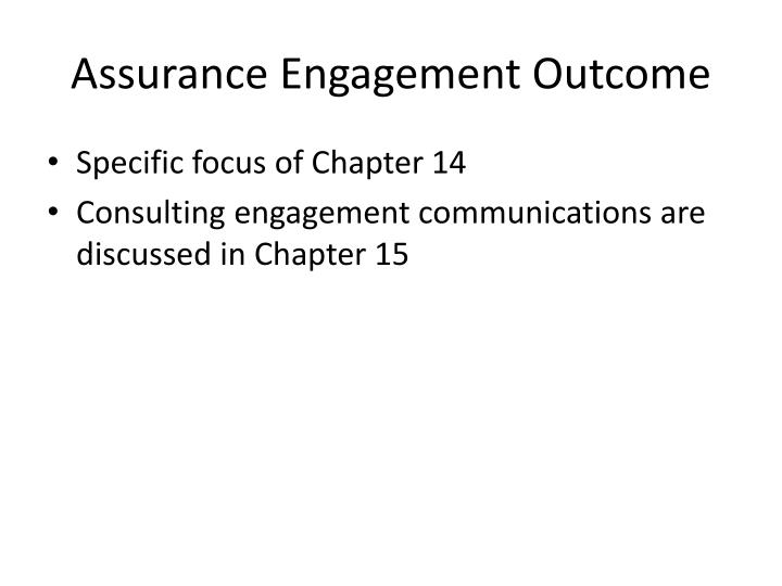 Assurance Engagement Outcome