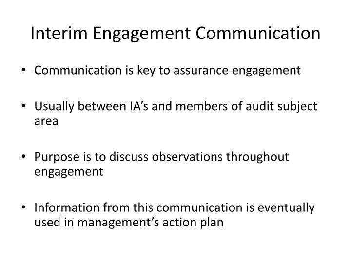 Interim Engagement Communication