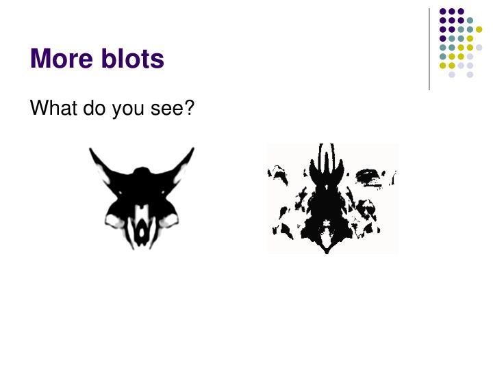 More blots