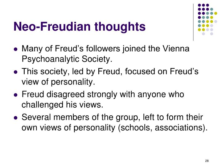 Neo-Freudian thoughts
