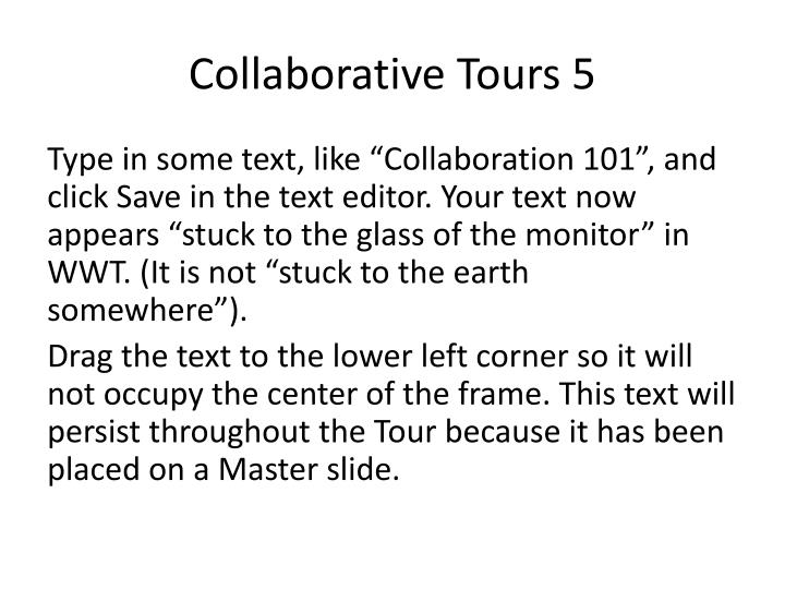 Collaborative Tours 5