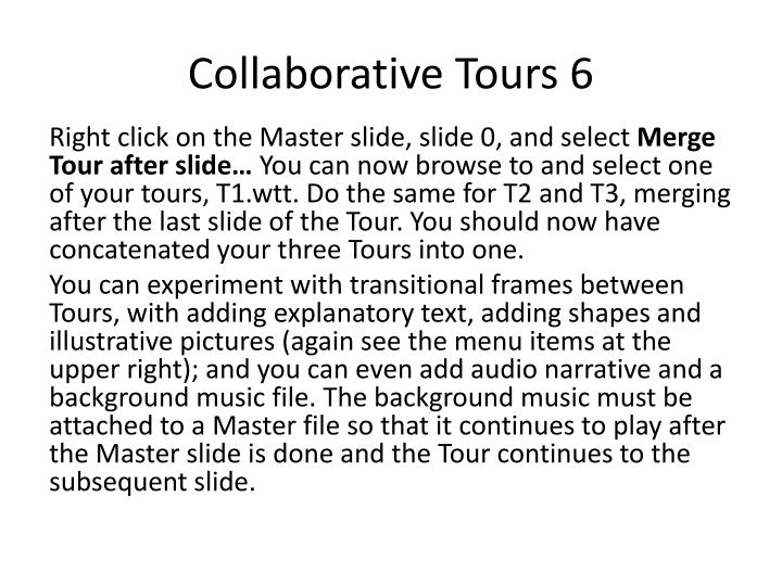 Collaborative Tours 6
