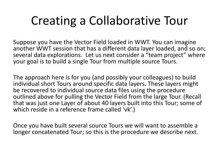 Creating a Collaborative Tour