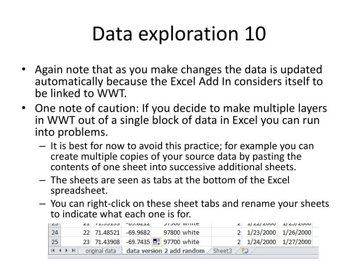 Data exploration 10