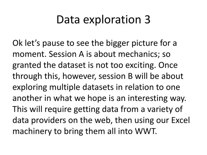 Data exploration 3