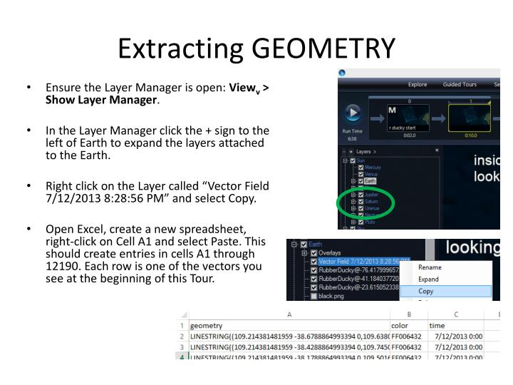 Extracting GEOMETRY